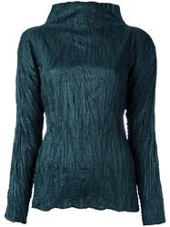 Issey Miyake Vintage Crushed Effect Top Green