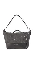 Marc Jacobs Embellished Grip Satchel Black