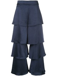 Alexis Layered Trousers Blue