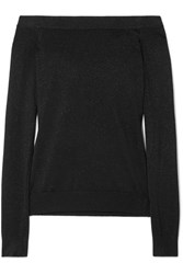 Michael Kors Collection Off The Shoulder Metallic Sweater Black Usd