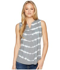 Aventura Clothing Fiji Tie Dye Tank Top Silver Lining Sleeveless Gray