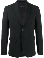 Dsquared2 Embroidered Printed Blazer Black