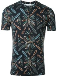 Versace Collection Feather Print T Shirt Black