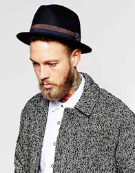 Ted Baker Wool Trilby Navy