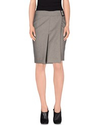 Dekker Skirts Knee Length Skirts Women Grey