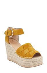 Marc Fisher Ltd Adalla Platform Wedge Sandal Mustard Suede