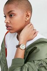 Urban Outfitters Around The World Leather Watch Brown