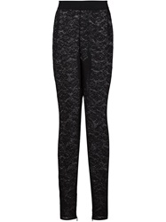 Stella Mccartney Floral Sheer Leggings Black