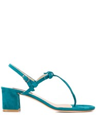 Fabio Rusconi Block Heel Sandals Blue