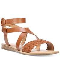 Franco Sarto Georgetta Strappy Flat Sandals Women's Shoes Whiskey