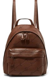 Stella Mccartney Mini Perforated Faux Leather Backpack Tan