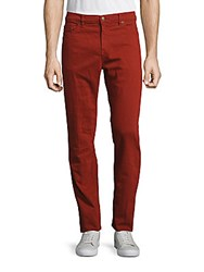Raleigh Denim Martin Thin Solid Jeans Barn Red