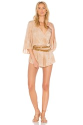 Blue Life Wild And Free Romper Tan