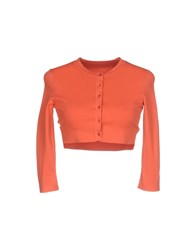 Alaia Wrap Cardigans Coral