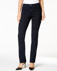 Charter Club Lexington Starry Night Print Straight Leg Jeans Only At Macy's Rinse Combo