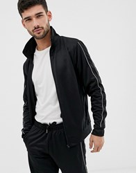 D Struct Zip Thru Track Jacket Black