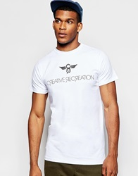 Creative Recreation Slim Fit T Shirt With Logo White