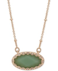 Lonna And Lilly Gold Tone Pave Green Stone Pendant Necklace 16 3 Extender