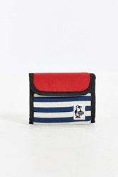 Chums Trifold Sweat Nylon Wallet Red Multi