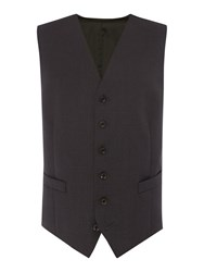 Chester Barrie Plain Tailored Fit Waistcoat Charcoal