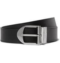 Mulberry 3Cm Black And Brown Reversible Leather Belt Black