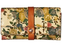 Patricia Nash Murcia Wallet Denim Fields Natural Wallet Handbags Green