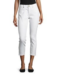 Karl Lagerfeld The Cropped Skinny Jeans White Denim