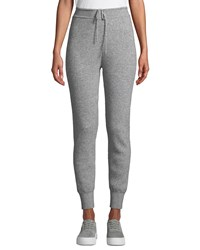 Vince Ribbed Wool Cashmere Jogger Pants Heather Steel