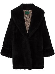 Jean Paul Gaultier Vintage Faux Fur Coat Black