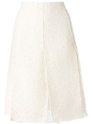 Nina Ricci Boucla Knit Skirt Nude And Neutrals