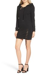 Pam And Gela Women's Lace Up Hoodie Dress