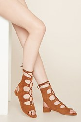 Forever 21 Eeight Marley Lace Up Sandals