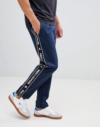 Dc Shoes Joggers With Logo Taping In Navy