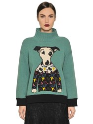 I'm Isola Marras Embroidered Wool Knit Sweater