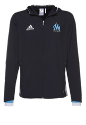 Adidas Performance Olympique Marseille Tracksuit Top Night Navy White Om Blue Dark Blue