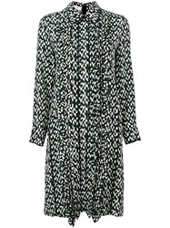 Marni Geometric Print Shirt Dress Black