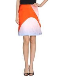 Jonathan Saunders Knee Length Skirts Orange