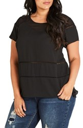 City Chic Plus Size Women's Night Out Top Black