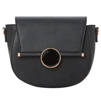 Dune Ebonnie Saddle Clutch Bag Black