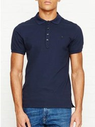Diesel Heal Short Sleeve Polo Top Blue