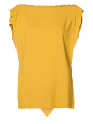 Vivienne Westwood Anglomania Square Denim Blouse Yellow Orange