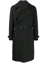 Tagliatore Houndstooth Coat Brown