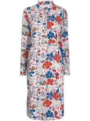 Essentiel Antwerp Floral Print Midi Dress White