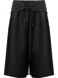 Yang Li Waist Tie Detail Shorts Black