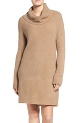Bb Dakota 'Collins' Ribbed Sweater Dress Beige