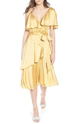 Lost Ink Deconstructed Tea Dress Yellow