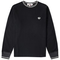 Fred Perry X Nigel Cabourn Long Sleeve Goalkeeper Tee Black