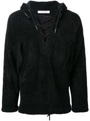 Ones Stroke Lace Up Hoodie Black