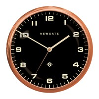 Newgate Chrysler Wall Clock Reverse Dial Radial Copper