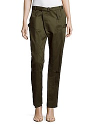 Balenciaga Cotton Six Pocket Cargo Pants Khaki
